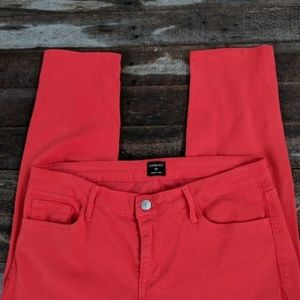 Just Black red cropped skinny jeans 30
